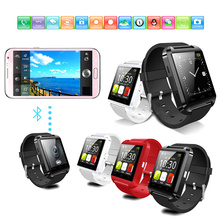 2015 u8 cell phone watch with touch display and pedometer