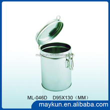 High Quality Round Tin Can With Iron Wire For Tea&Coffee