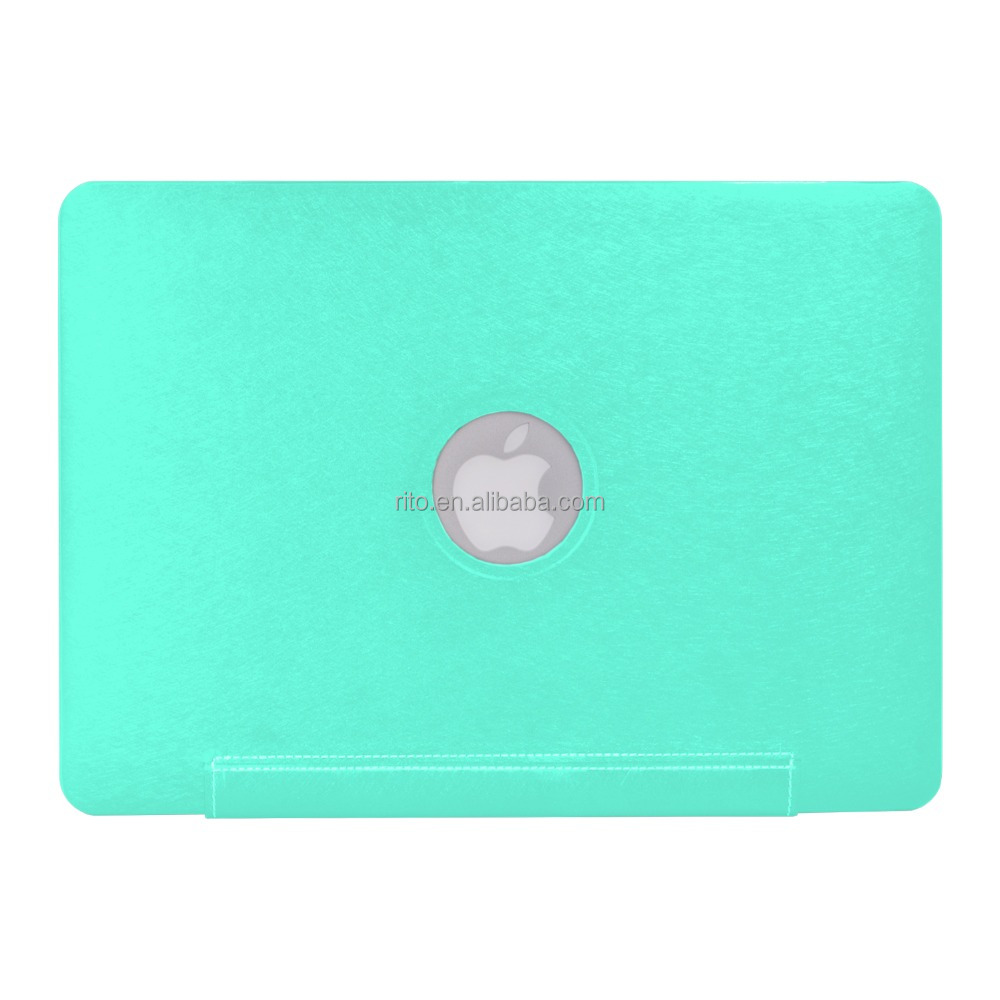"Wholesale 3D PU Leather Sleeve Protective Shell Case for Apple Macbook Air 11"" Case, Green"