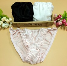 OEM Manufacture 100% Natural Pure Silk Underwear for Women Silk Bikini Panties