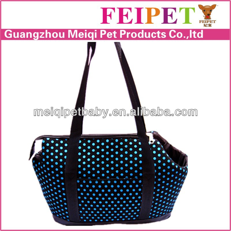 Eco-friendly Low MOQ Wholesale soft blue dot point pet pocket dog carrier