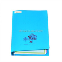 Notebook with plastic index/pp plastic cover note book