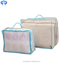 Zipper Packaging non woven PVC Storage plastic quilt cover bag