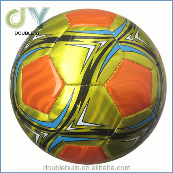 Yellow PVC football/promotion football/machine sewn football ball 3 layer matte surface football club identity soccer