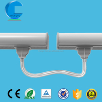 2015 new shadowless connected T5 led tube light fittings 100lm/w