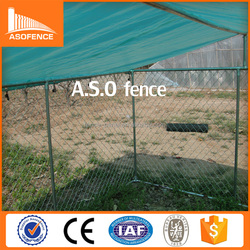 china top ten best selling product 10x10' big size dog kennel/chain link fence and steel tube made up