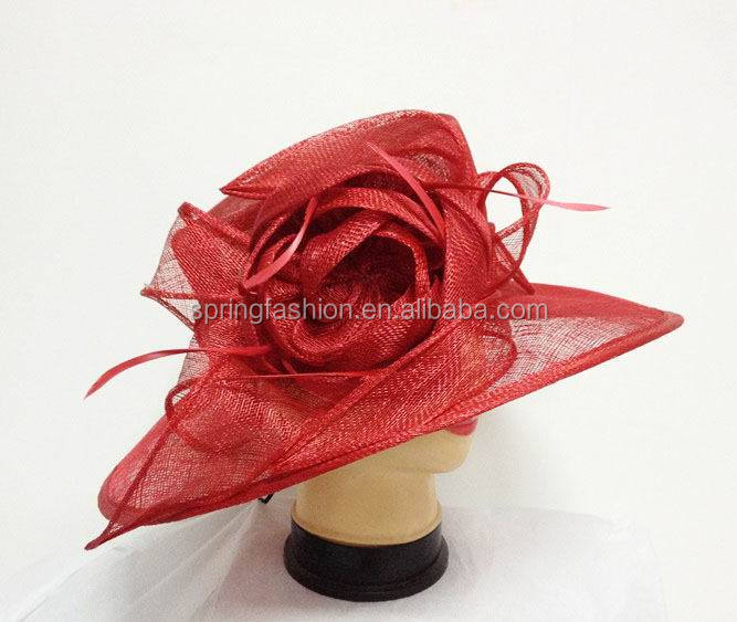 Orange Kentucky Derby Royal Ascot sinamay hat,summer hat,stunning hat,Church Wedding Party Mother's Day hat