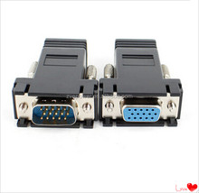 VGA male to RJ45 adapter via the network cable to transmit VGA signals