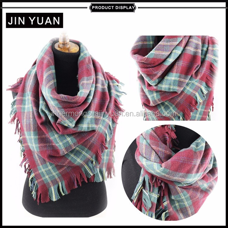 2017 hot sale winter wool pashmina shawl
