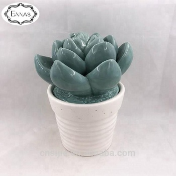 Decorative Modern Potted Green Artificial Succulent Plants