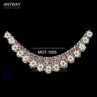 Iron on sequin and bead collar motif wholesale from china