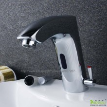 bathroom design Luxury Brass Automatic Infrared Sensor Faucet Deck Mounted Sensor Tap For Hot & Cold Water, sensor faucet