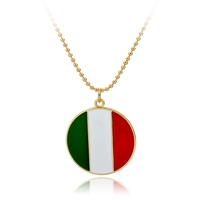 Longway Necklace Wholesale # Enamel Italy Flag Dog Tag Necklace For Promotion