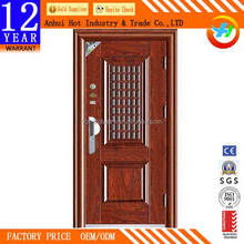 High Quality Wooden Door Polishing Material New Design Fashion Single/Double Leaf Wooden Entry Door Anti Theft Security Door