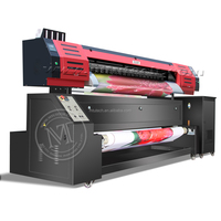 Multicolor digital textile printing machine with 1440 DIP Resolution