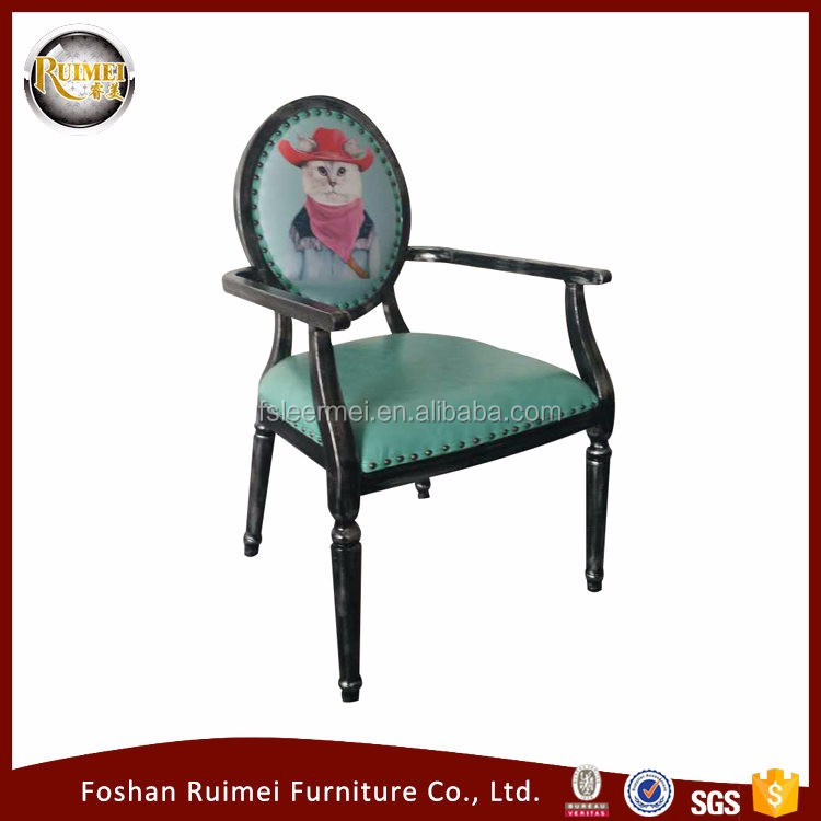 Metal strong dining armchair dining B-958
