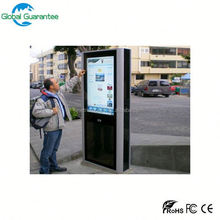 Stand alone CE ROSH IP65 high brightness apple advertising large outdoor lcd display