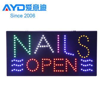 Moving Full Color Acrylic Beauty Nails LED Sign Decor