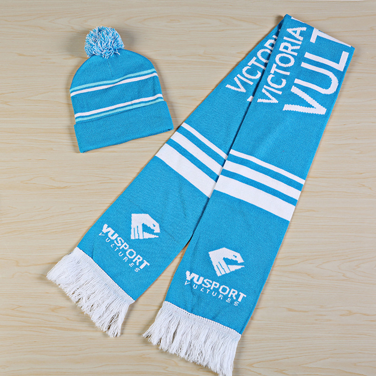 National day soccer game event football scarf knitting machine