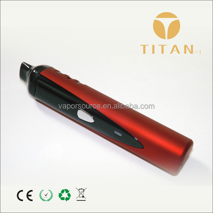 Slim titan 1 dry herbal vaporizer light weight with high working voltage china wholesale