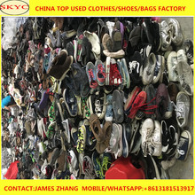 Sorting used shoes into 25kg sack