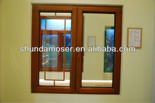 MOSER wood window with aluminum cladding, double panel window, white oak