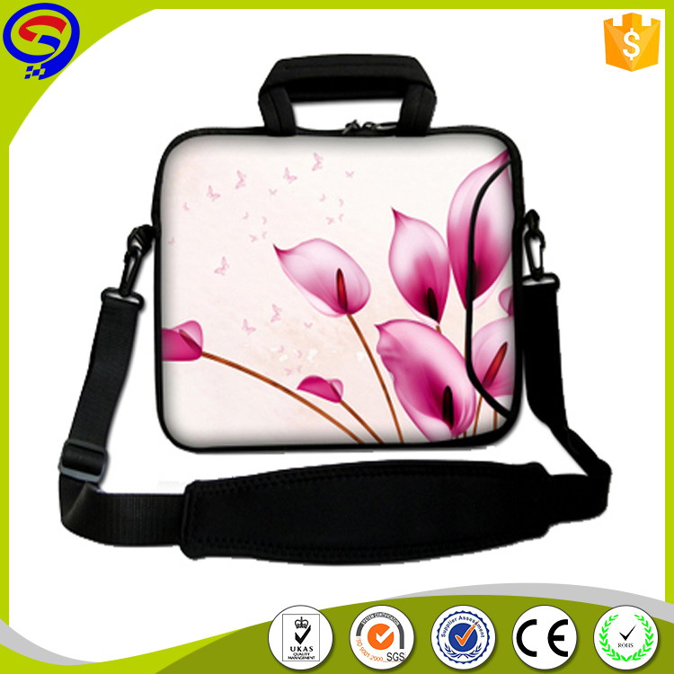 Factory excellent quality neoprene laptop zipper bag for ipad