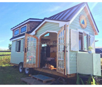 Mordern prefab house on wheels modular tiny house for sale