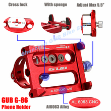 "GUB G-86 4-5.5"" adjust Alloy CNC Bicycle phone Holder Bike mount Stand moto GPS telephone support Mount Cycling Accessories"