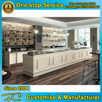 Dessert store wooden food display counter stand designs