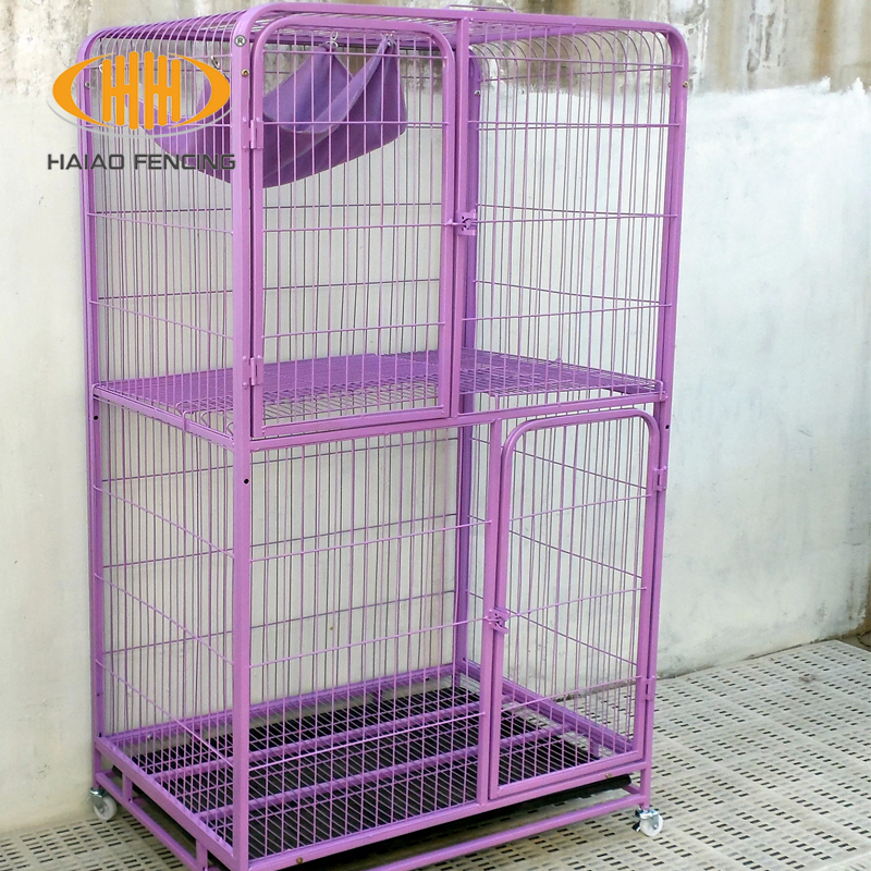 Factory direct sale welded wire mesh pet cat cage for sale cheap