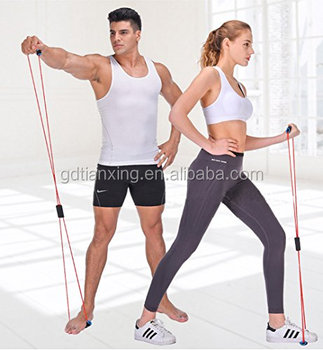 Tube Workout Exercise Elastic Yoga Resistance Band Fitness Equipment 8 Type