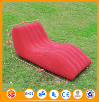 PVC comfortable household red or blue inflatable air lounge sofa