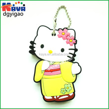 Wholesale embossed soft pvc key ring / 3d keychain for promotional gifts