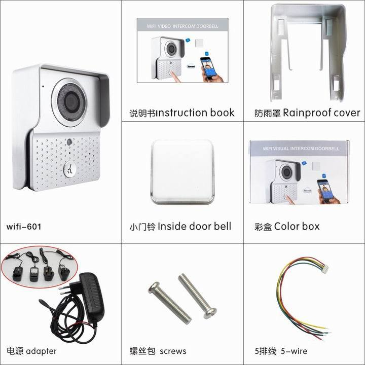 WIFI IP Interview Door Entry Wireless Video Door Phone For House