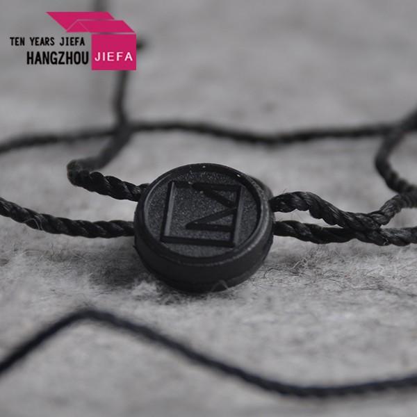 Plastic tags nylon cord loop lock hang tag seal tag with string