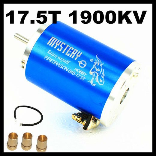 Fire Dragon 3 Chase 2 Poles 17.5T 1900KV HL540-3650 3G2P Sensored Brushless Motor For 1/10 1/12 RC Car