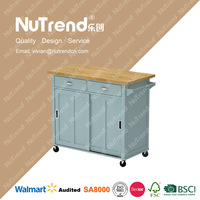 thicken MDF wood kitchen room types of service trolley