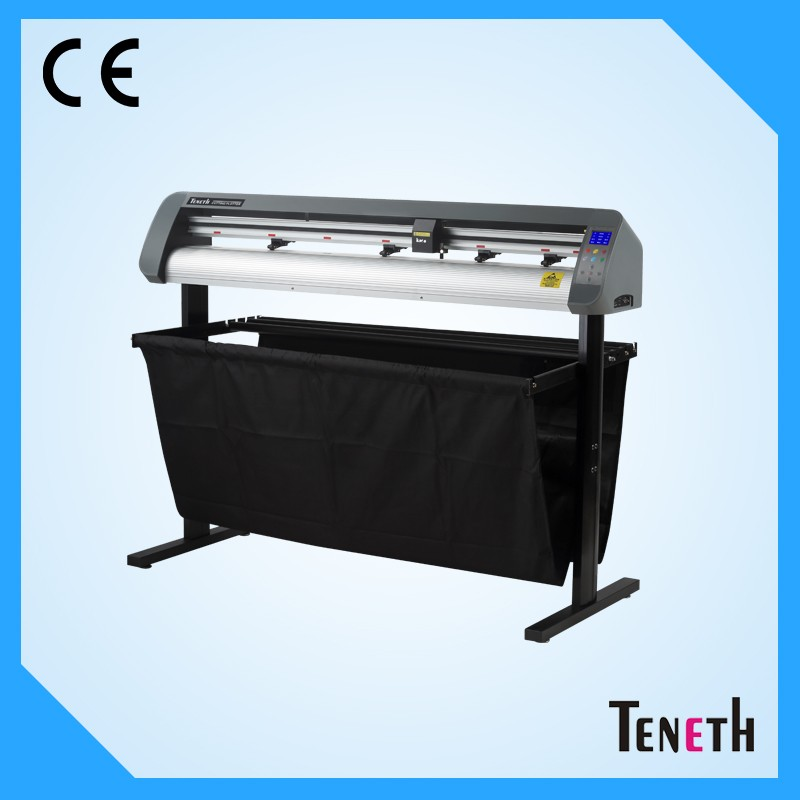Best 130cm paper feeding high cutting force can cut flocking heat transfer materials self adhensive sticker cutting plotter