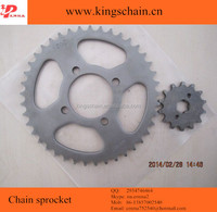 Pakistan Grey color 420 motorcycle chain and sprocket for CD70