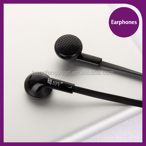 Hot selling flat cable in ear earphones for mobile phone 3.5mm connector clear sound earphone