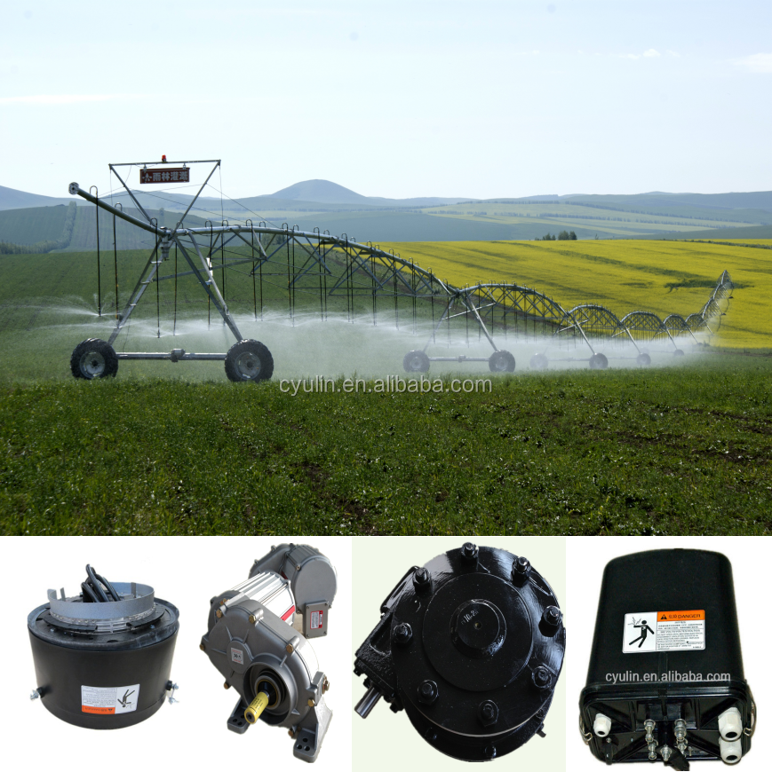 China Yulin Agricultural Center Pivot Irrigation System with Rain Gun Sprinkler and Booster Pump