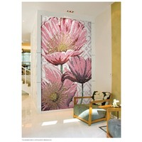 pink flower painting mosai art