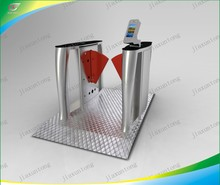Automatic pedestrian flap turnstile security entrance gates
