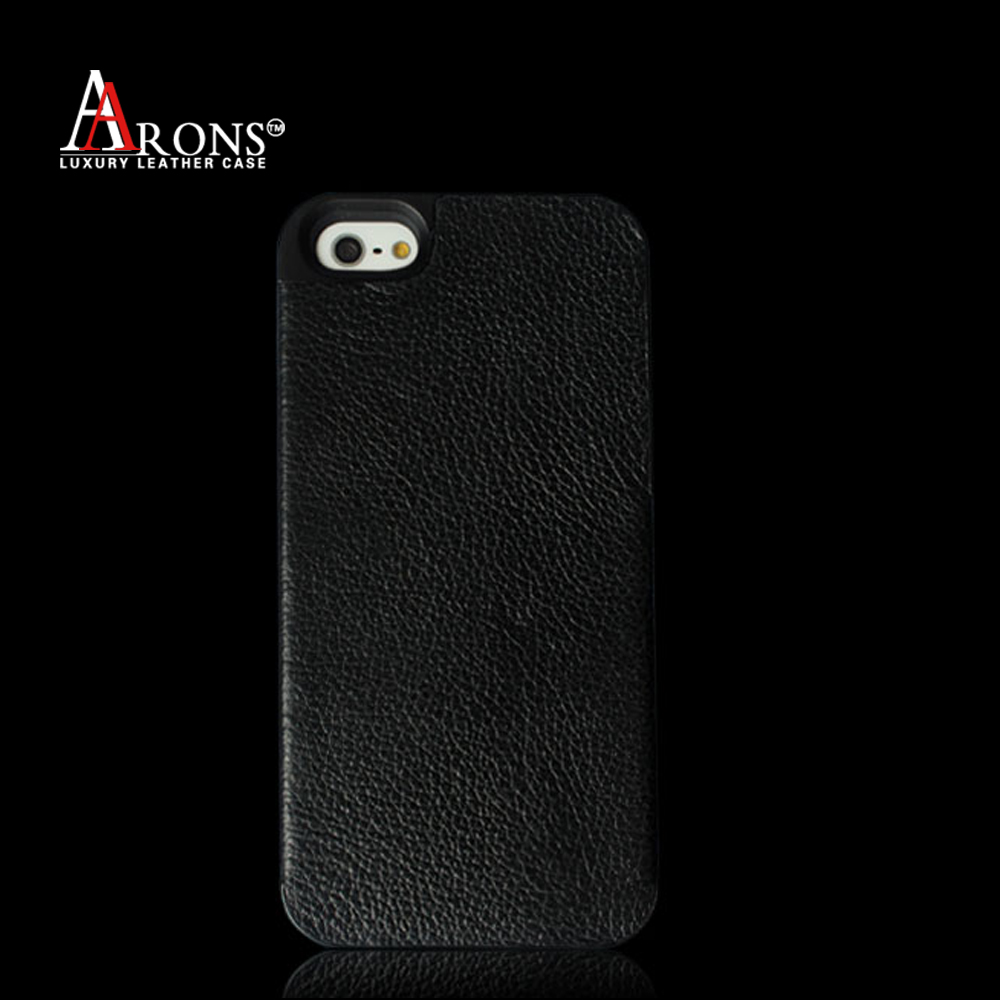 New style leather back case premium leather mobile phone cover for iphone5s/SE case