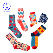 Cheap high quality combed cotton mens dress socks colorful custom socks