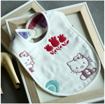 Custom cotton baby bibs cute silicone rubber bibs for babies