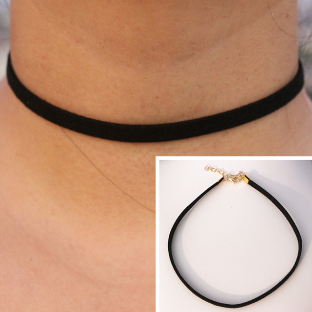 Gothic Wrap Choker Necklaces Women Clavicle Collares Fashion Jewelry 90's Inspired Bijoux Colier One Direction Necklace HOT Sale