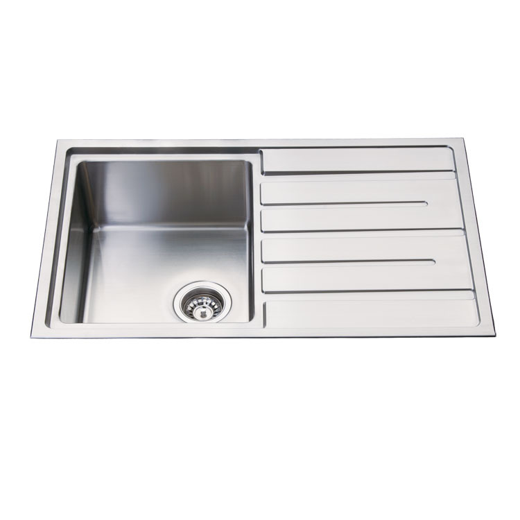 8805f sus 304 single bowl stainless steel kitchen sink