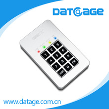 Datage portable AES256bit 1.8 USB3.0 super speed m-SATA HDD enclosure
